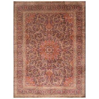 Handmade Mahal Wool Rug (India) - 9'7 x 12'9