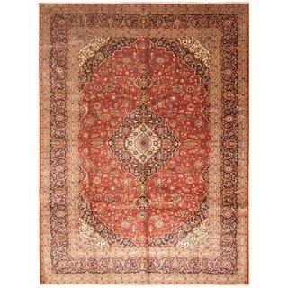 Handmade Kashan Wool Rug (Iran) - 9'9 x 13'3