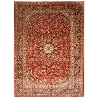 Handmade Kashan Wool Rug (Iran) - 9'4 x 13'