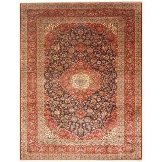Handmade Kashan Wool Rug (Iran) - 9'7 x 13'4