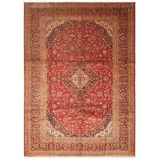 Handmade Kashan Wool Rug (Iran) - 9'10 x 13'7