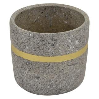 "Three Hands 6.75 "" Flower Pot Gray & Gold - Gray"