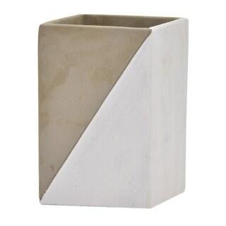 "Three Hands 7 "" Flower Pot - Gray & Silver - Silver"