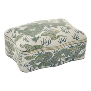 Three Hands Green/White Ceramic 3.5-inch Box