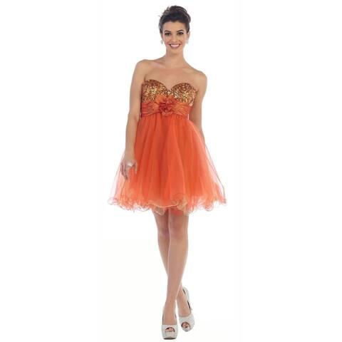 Cute Two Toned Short Homecoming Dress