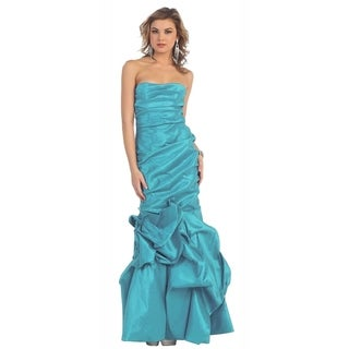 Simple Strapless Mermaid Evening Gown