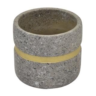 "Three Hands 4.25 "" Flower Pot Gray & Gold - Gray"