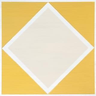 "Floor Adorn Adhesive Decorative and Removable Vinyl Floor Tiles, Yellow Diamond, 12""x12"", Set of 36 Tiles"