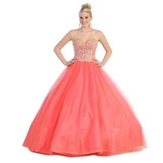 Beautiful Strapless Quinceanera Ball Gown