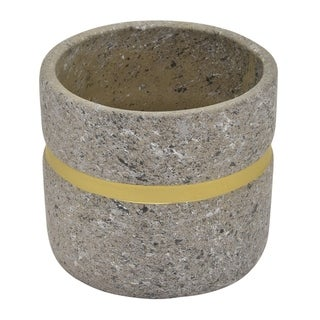 "Three Hands 5.5 "" Flower Pot Gray & Gold - Gray"