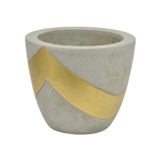 "Three Hands 5.5 "" Planter - Grey/Gold - Gray"