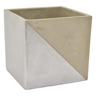 Three Hands Grey/Silver Clay 7-inch Flower Pot