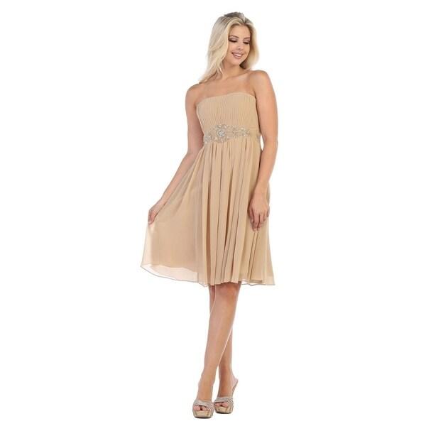 Simple Yet Cute Short Birdesmaids Dress & Plus Size