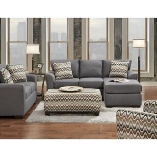 SofaTrendz Charlie  Sofa Chaise, Love & Ottoman Set