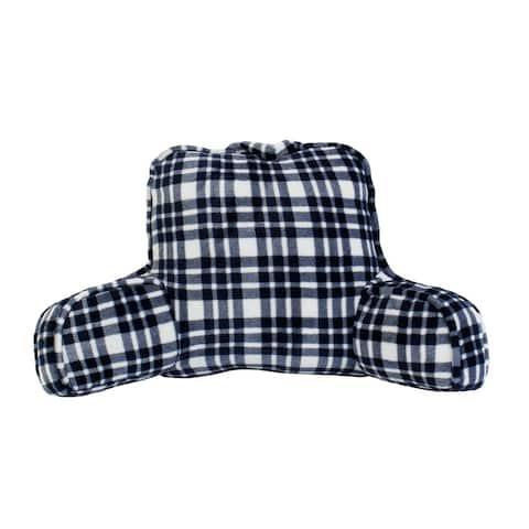 "24x20"" Cassidy Classic Plaid Fleece Bed Rest"
