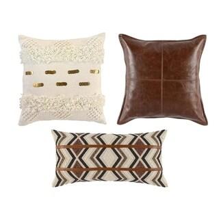 Kosas Home Alma, Cheyenne and Seine Throw Pillow Set (Set of 3)