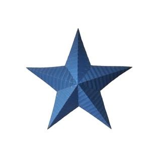 Handmade Rustic Tin Star - Navy Blue