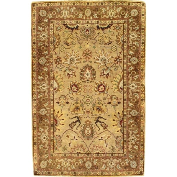 Indo Persian Tabriz Wool Area Rug: Shop Pasargad Indo Tabriz Hand Knotted Wool Pile Area Rug