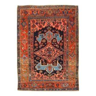"""Pasargad DC Antique Persian Bidjar Hand-Knotted Rug - 4'4"""" x 5'11"""" - 4'4"""" x 5'11"""""""