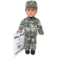 "My Pal The Patriot 18"" Doll, Light Skin Color, Blue Eyes, Blonde Curly Hair"