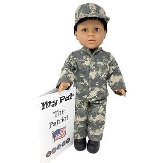 "My Pal The Patriot 18"" Doll, Medium Skin Color, Brown Eyes, Black Curly Hair"