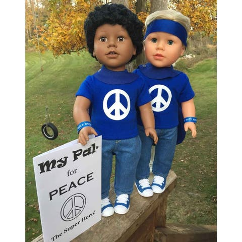 "My Pal for Peace, The Super Hero 18"" Doll with Dark Skin Color"