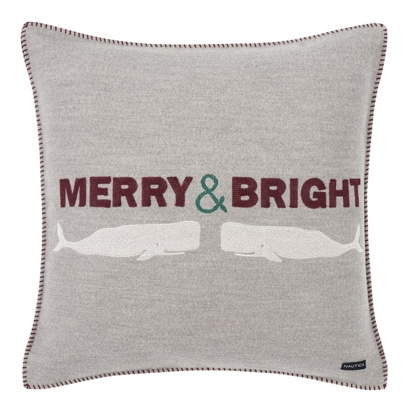Nautica Merry and Bright Throw Pillow