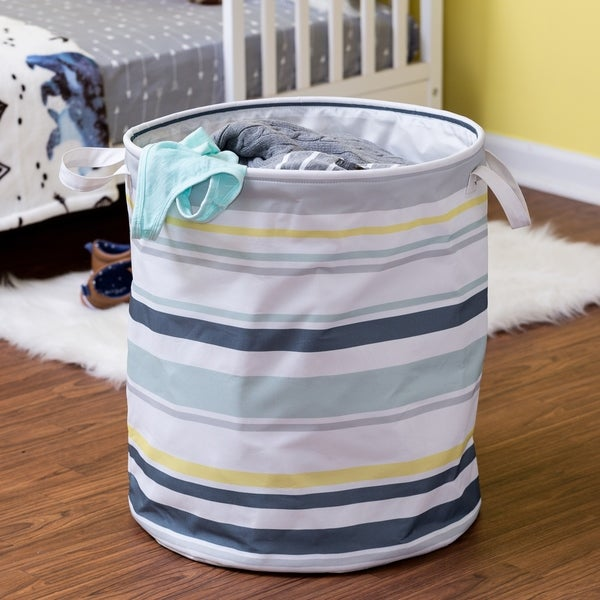 Honey-Can-Do Multi-Stripe Hamper