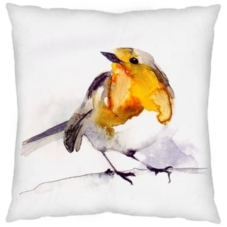 Mercana Yellow Robin Decorative Pillow (Cover Only)