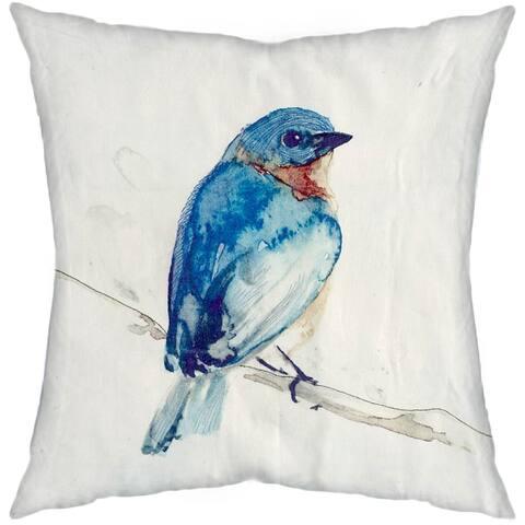 Mercana Blue Robin 18 x 18 Decorative Pillow Cover