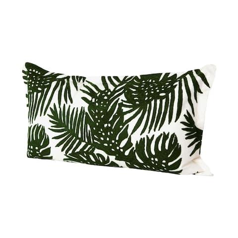 Mercana Boyle II 13 x 21 Green Tropical Palm Leaf Decorative Pillow Cover