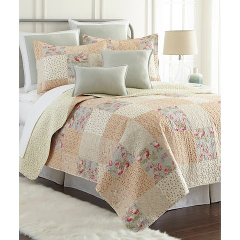 Sherry Kline Riverside Printed Cotton 3-piece Quilt Set