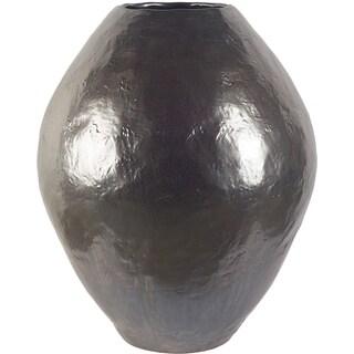 Mercana Gobi II Black, Bronze Ceramic Large Vase