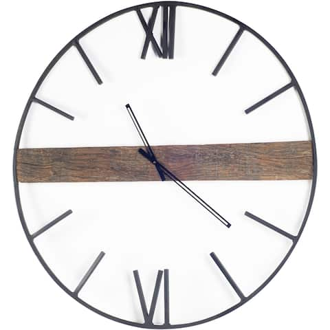 "Mercana Roman 36"" Round Oversize Industrial Wall Clock - 36.0L x 36.0W x 2.0H"