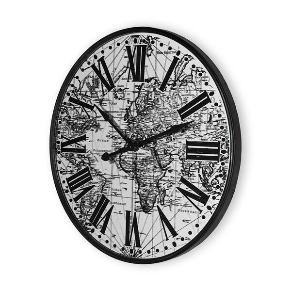 Mercana Zephyr Black Metal Wall Clock
