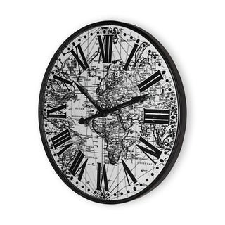 Mercana Zephyr Black Metal Wall Clock
