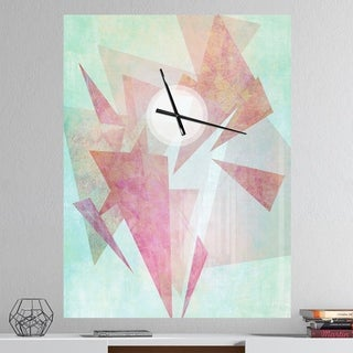 Designart 'Vintage Triangular' Oversized Farmhouse Wall CLock