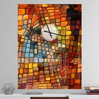 Designart 'Dreaming of Stained Glass' Oversized Modern Wall CLock