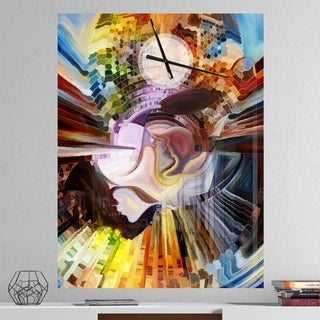 Designart 'Layers of Inner Paint' Oversized Abstract Wall CLock