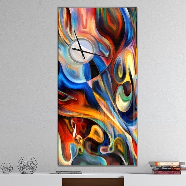 Designart 'Abstract Music and Rhythm' Oversized Abstract Wall CLock