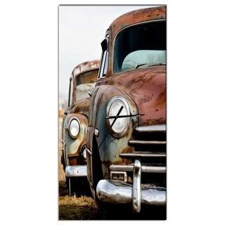 Designart 'Vintage Cars' Oversized Contemporary Wall CLock