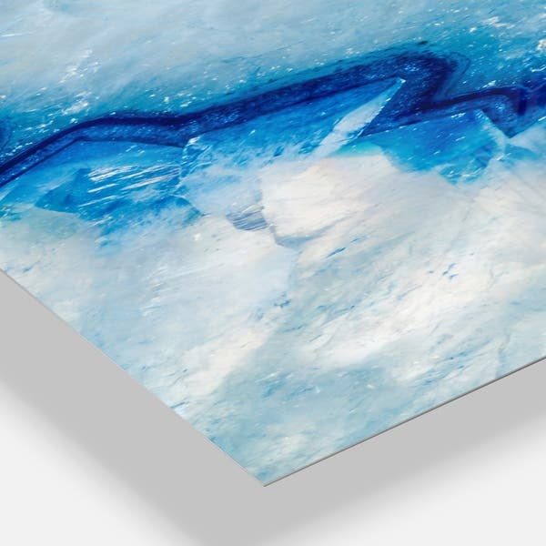 Designart Geode Slice Macro Oversized Modern Wall Clock On Sale Overstock 24203885 30 In Wide X 40 In High