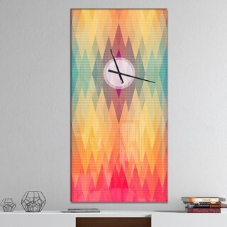 Designart 'Colorful Geometric Pattern' Oversized Contemporary Wall CLock