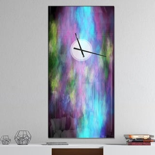 Designart 'Perfect Blue Purple Starry Sky' Oversized Abstract Wall CLock