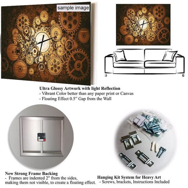 Strick Bolton Abstract Broken Wall 3d Design Metal Clock On Sale Overstock 24203928 30 In Wide X 40 In High