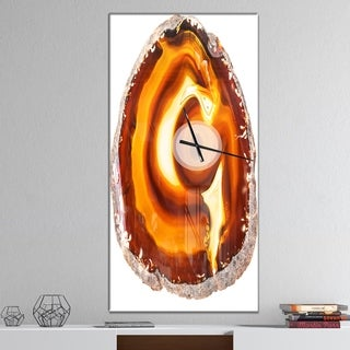 Designart 'Vibrant Agate Geode Slice' Oversized Abstract Wall CLock