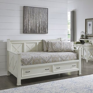 The Gray Barn Idlewild White Weathered Wood Day Bed Size - Twin