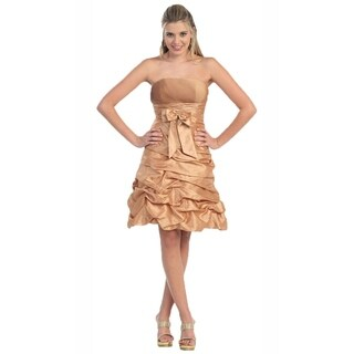 Strapless Short Ruffle Dress