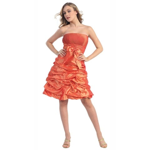 Strapless Short Ruffle Dress