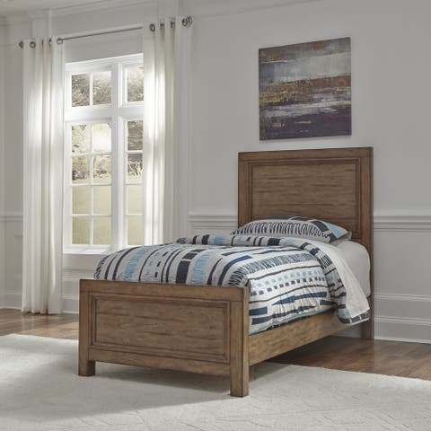 Carbon Loft Wallace Toffee Wood Finish Twin Bed